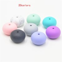 Wholesale BPA Free Abacus silicon beads for Silicone Teething Necklace FDA Aproved DIY Loose BEADS Safe for mom and baby