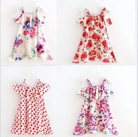 baby girl sections - 2017 new arrivals little flowers Thin section Cotton DRESS girls dress cute baby summer sling dress colors