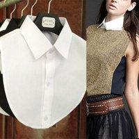 ascot blouse - Hot Sale Summer Pop Fashion False collar White Black Blouse Detachable Collars Women Men Clothes Accessories