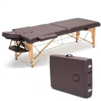 Wholesale Professional Portable Spa Massage Tables Foldable with Carring Bag Salon Furniture Wooden Folding Bed Beauty Massage Table