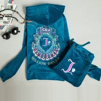 Wholesale 2016 Autumn Sportwear Women s Velvet Tracksuits Letter Pattern Embroidery Hoodies Women Two Piece Outfits Pants Tracksuit Women