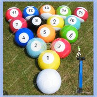 Wholesale 16 Pieces Snook ball for Snookball Game Large cm Snooker Soccer ball with Air Pump Giant Snook ball for pool table