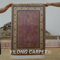 Wholesale 2 x3 pink turkish design persian silk carpets small hand knotted rug