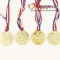 award medals - Plastic Goldtone Winner Prize Award Boy Girl Medals Pinata Fillers Party Favor Supplies Kids Game