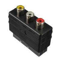 adapter scart video - Freeshipping Pins SCART Male Plug To RCA Female AV TV Audio Video Adaptor Converter IN