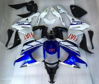 Wholesale 4 Free Gifts New ABS motorcycle Fairing Kits Fit For kawasaki Ninja ZX R ZX10R Bodywork set Blue red FIAT