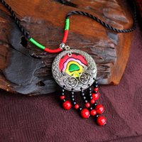 ancient chinese civilization - Handmade necklace Chinese style original design embroidery totem ancient civilization culture bring you lucky auspicious