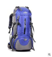 Wholesale 50L outdoor large professional mountaineering backpack travel bag and wear waterproof and anti crack