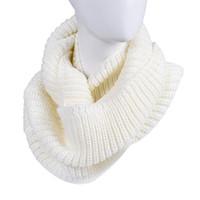 Precio de Mejores bufandas de moda-Venta al por mayor-Mejor Negocio Nueva Moda de las mujeres de invierno Cálido Infinito 2 Círculo Cuello Cuello Cuello Cuello largo chal Collar Regalo 1PC
