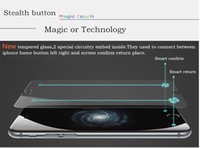 auto buttons - For iPhone s Plus Smart Glass Stealth Auto Confirm Back Button Screen Protector Tempered HD Top Quality Film Strong For Apple Magnetic