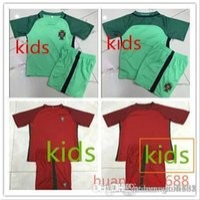 Wholesale Portugal kids kit best thai soccer jerseys children Portugal football shirts boys camisa de futebol Argentina shirt kits