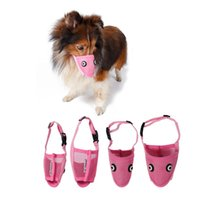 Wholesale Dog Muzzles Dog Adjustable Mask Anti Bark Bite Mesh Soft Mouth Muzzle Grooming Chew Stop For Small Large Dog Size S XL