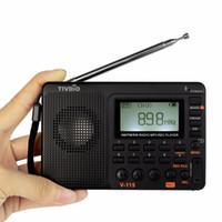 bass recorder - TIVDIO V FM AM SW Radio Multiband Radio Receiver Bass Sound MP3 Player REC Recorder Portable Radio F9205A