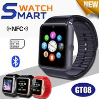 Wholesale GT08 Bluetooth Smart Watch With SIM Card Slot And NFC Health Watchs For Android Samsung and Smartphone Bracelet Smartwatch