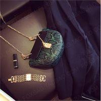 Wholesale Cheap Chain Crossbody Women Bag Pu Leather Snake PU Clutch Bag Fashion New Hot Crocodile Female Shoulder Messenger Bag