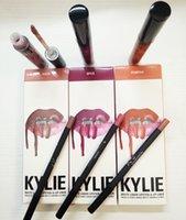 Wholesale 2016 New Kylie Lip Velvetine Liquid Matte Lip Gloss Lipstick Makeup kylie Lip Velvetine Lip Kit Waterproof Colors