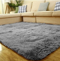 Wholesale Modern Shag Area Rug Super Soft Living Room Bedroom Kitchen Carpet Floor Rug Soft Solid Anti skid Carpet mat Wool Length cm best quality