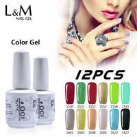 Wholesale nail gel soak off Led Uv nail supplies IDO gel colors base gel top gel Brand Polish set