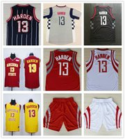 Baratos # 13 James Harden Arizona State Jersey Sun Devils College Baloncesto Jersey Venta al por mayor cosido amarillo rojo blanco 13 James Harden Jerseys