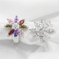 Wholesale Elegant noble flower lady rhinestone earrings to wear earrings Brinco women accessories