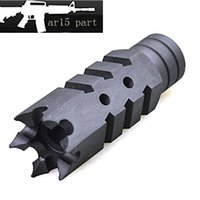 Wholesale AR15 PART muzzle brake Steel Fishbone Style Black Muzzle Brake for X28 with Crush Washer