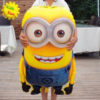 Wholesale 1PCS cm Big Size Minions Balloons Classic Toys Christmas Birthday Wedding Decoration Party inflatable air balloon