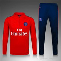 Wholesale Customized Thai Quality New Real National Team Paris Long Sleeve Training Clothing Embroidery