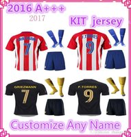 Wholesale Adult New Atletico Madrid Jerseys GRIEZMANN home away F TORRES JACKSON top quality football shirt soccer jersey Free socks