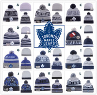 beanie caps - NEW HOT Sport KNIT NHL TORONTO MAPLE LEAFSIce Hockey Club Beanies Team Hat Winter Caps Popular Beanie Fix Cheap Gift
