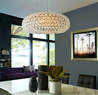 ac crystal acrylic - New Zeus sweat Crystal chandeliers Pendant Lamp CM CM CM Acrylic Ball LED Pendent Lights AC V V Fedex