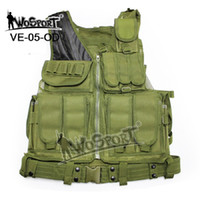 airsoft protective vest - Tactical Airsoft Paintball Wargame Vest Protective Safety Clothing Hunting Combat Vest Outdoor Training Mesh Waistcoat