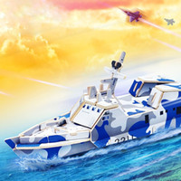 Wholesale 3D Wooden Puzzle Children s Educational Early Toy Military Large Ship Model Children Kids Toys Gift