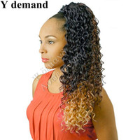 Cool Hair Accessoires Extensions Femmes Long Ombre Wavy Curly Claw afro Kinky Ponytail Drawstring Hot For Black Women Y demand
