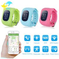 Acheter Enfants finder-2016 Kid Safe GPS Q50 enfant Smart Watch SOS Call Localisation Finder Localisateur Tracker Smartwatch pour Enfants Enfants Anti Lost Moniteur Baby Son
