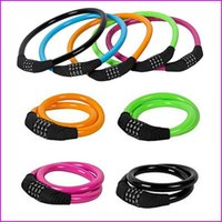 Wholesale Bike Digital Combination Cable Lock For MTB x cm Bicycle Lock Security Cycling Bicycle Motor Color