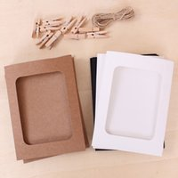 Wholesale 10pcs set inch Paper Photo Frames Creative Washing Line Hanging Gallery on Line Paper Photo Frames Home Wall Party Decor