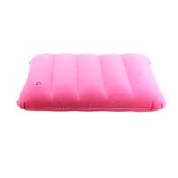 venta al por mayorrosa rosa flocado almohadilla inflable de viaje cojn de aire cuello