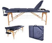 Wholesale One Piece Section Folding Massage Table Solid Massage Bed Anti Fatigue Massage Equipment