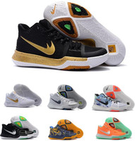 Mid Cut basketball cavs - 2017 Kyrie Basketball Shoes Men Women Red Crossover Huarache Cavs Kyrie Irving s III Basketball Sports Shoes Original Sneakers Size