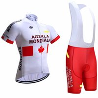 Wholesale Ag2r Cycling Jerseys Short Sleeve Padded Bib None Bib Trousers White Red Ropa Ciclismo Bicycle Clothing Top Class Lycra Sports Wear