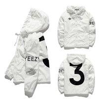 Wholesale Y Jacket Kanye West Season GD Windbreaker Men Jacket palace Top Version yeezus jackets Double Layer Thicken Suprem Couples Coat