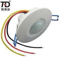 Wholesale 3 Wire Ceiling Degree Infrared Time Delay Motion Sensor Switch AC220V motion sensor light switch pir sensor switch