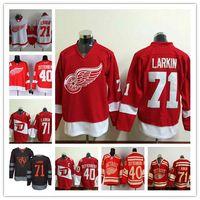 america wings - 2016 Stadium Series Jerseys Hockey Detroit Red Wings Dylan Larkin Henrik Zetterberg Stitched Black Larkin North America World Cup