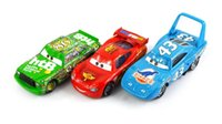 Wholesale 3Pcs Set Original Pixar Cars The King Chick Hicks Mcque Diecast Metal Kids Toy Lightning McQueen