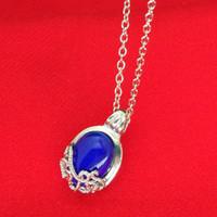 al por mayor colgantes de los diarios del vampiro-The Vampire Diaries Collar pendiente de protección del sol de Katherine azul Declaración de la joyería collares Necklacespendents para las mujeres 160365