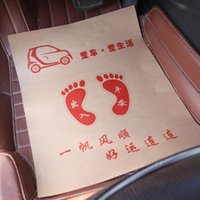 Wholesale 100pieces Disposoble kraft paper car mats used after clean the car floor keep clean of the car floor paper carpet Car care General size