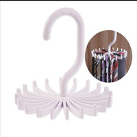 Wholesale New Rotation Tie Hanging Scarf Belt White Plastic Necktie Rack Muffler Hanger Storage Hook dandys cm