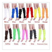 Wholesale Hot Warmers Leg Womens Girls Leg Warmer Party Fashion Accessories Knitted Neon Dance Costume Leg Warmers Womens Free DHL