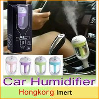 Wholesale New V Car Steam Humidifier USB plug Air Purifier Aroma Diffuser Essential oil diffuser Aromatherapy Mist Maker Fogger with retail package
