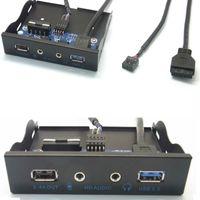 20Pin USB 3.0 концентратор + 2.4A тока зарядки + HD Audio Mic Разъем для передней панели